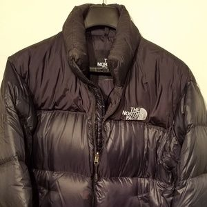 North Face hood-in-collar puffer jacket